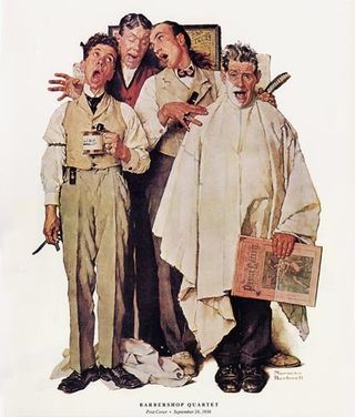Norman Rockwell Barbershop Quartet