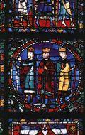Adoration Magi 1150 Chartres Cathedral