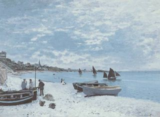Beach Sainte Adresse Monet