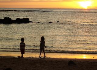 Child sunset